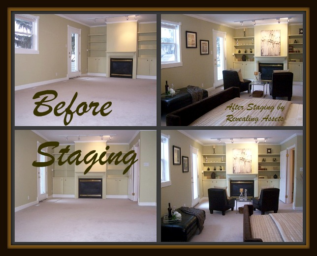 shoe string home staging budget with home stagers.